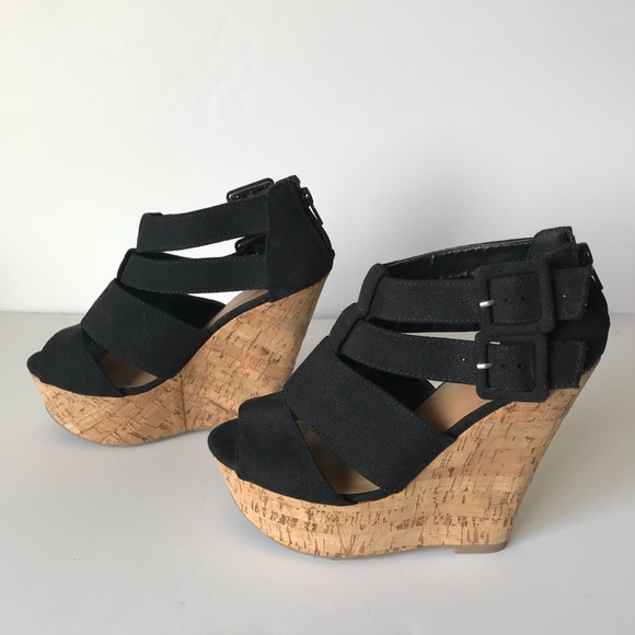 bfcc6659c Shoes | Black Summer Time Wedges | Poshmark